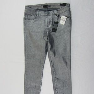 Kut From The Kloth Silver Metallic Connie Jeans 6